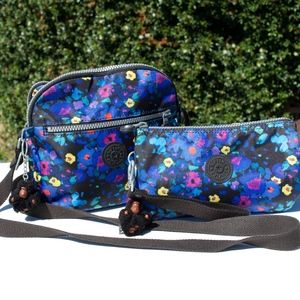 Kipling Fresh Freesia Floral Crossbody Wrislet
